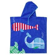 Wonga Road - Whale Time Kids Beach Poncho 60x120cm