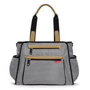SkipHop - Grand Central Diaper Bag Black Stripe