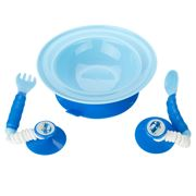 Ezee Reach - Stay-Put Blue Car Cutlery & Bowl
