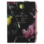 Ted Baker - Women's Citrus Bloom Notebook with Sticky Notes