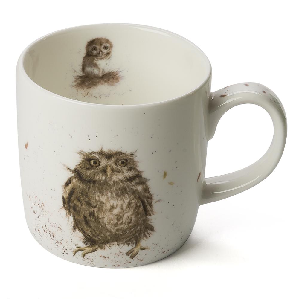 royal worcester wrendale designs what a hoot owl mug. Black Bedroom Furniture Sets. Home Design Ideas
