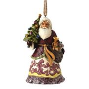 Heartwood Creek - Santa with Tree Hanging Ornament