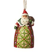 Heartwood Creek - Santa with Toybag Hanging Ornament