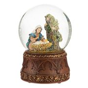 Roman Christmas - Holy Family Large Glitterdome