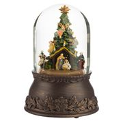 Roman Christmas - Christmas Tree Nativity Glitterdome
