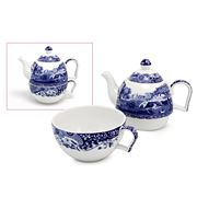 Spode - Blue Italian Tea for One Set