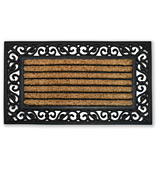 Kenware - Scroll Coir & Rubber Doormat 45x75cm
