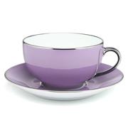 Limoges - Legle Parma Breakfast Cup & Saucer Platinum