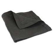 Linen Line - Hemstitch Linen Napkin Black