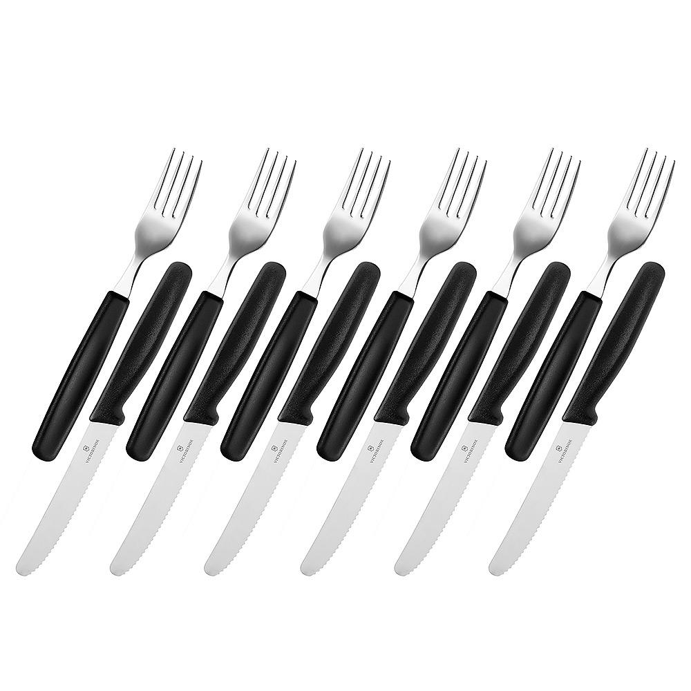 victorinox steak knife fork set black 12pce peter s of victorinox steak knife fork set black 12pce peter s of kensington