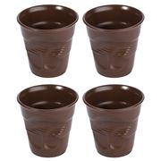 Revol - Crumple Brown Cup Set 4pce