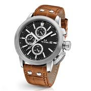 TW Steel - CEO Adesso CE7003 Black Dial Brown Strap 45mm