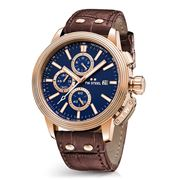 TW Steel - CEO Adesso CE7017 Rose Gold 45mm Blue Chronograph