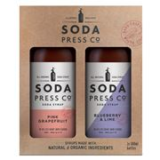 Soda Press Co - Pink Grapefruit & Blueberry and Lime Set 2pc
