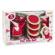 Champion - Red Heart Tin Tea Set 15pce