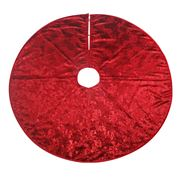 Swish Collection - Red Poinsettia Jacquard Tree Skirt