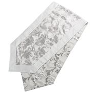 Swish Collection - Silver Paisley Table Runner