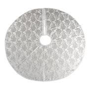 Swish Collection - Silver Paisley Jacquard Tree Skirt