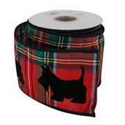 Swish Collection - Scottish Dog Tartan Ribbon 9m