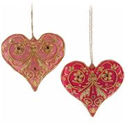 Katherine's Collection - Embroidered Heart Ornament