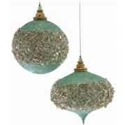 Katherine's Collection - Large Celestial Glittered Ornament
