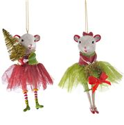 Katherine's Collection - Christmas Mice Ornament