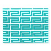 Rapee - Greek Key Aqua Placemat