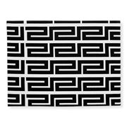Rapee - Greek Key Black Placemat