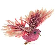 Katherine's Collection - Fire Bird Light Rose Ornament