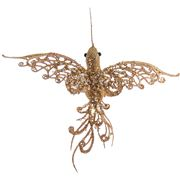 Katherine's Collection - Gold Lace Hummingbird Ornament