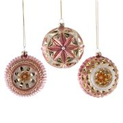 Katherine's Collection - Pink Sculptured Ornament