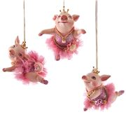 Katherine's Collection - Ballerina Pig Ornament