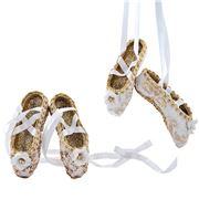 Katherine's Collection - Roy Ballet Slipper Ornament White