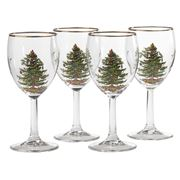 Spode - Christmas Tree Wine Glass Set 4pce
