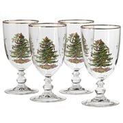 Spode - Christmas Tree Goblet Set 4pce