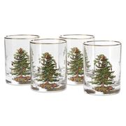 Spode - Christmas Tree Double Old Fashioned Tumbler Set 4pce