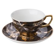 Cristina Re - Crystalline Black Tourmaline Teacup & Saucer