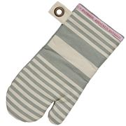 Stephanie Alexander - Striped Oven Glove Grey 18x35cm
