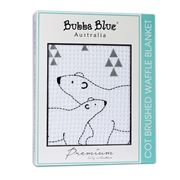 Bubba Blue - Polar Bear Cot Brushed Waffle