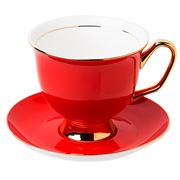 LyndalT - Extra Large Red Teacup & Saucer