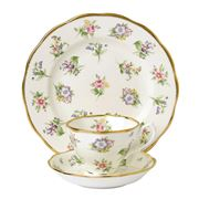 Royal Albert - 100 Years 1920s Meadow Teacup, Saucer, Plate