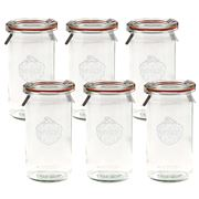 Weck - Cylindrical Canning Jar Set 340ml/6pce