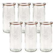 Weck - Cylindrical Canning Jar Set 1L/6pce