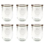 Weck - Tulip Canning Jar Set 1L/6pce
