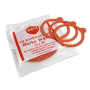 Weck - Rubber Canning Seal Set 8cm/10pce