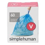 Simplehuman - Custom Fit Size V Recycling Bin Liner 60pack