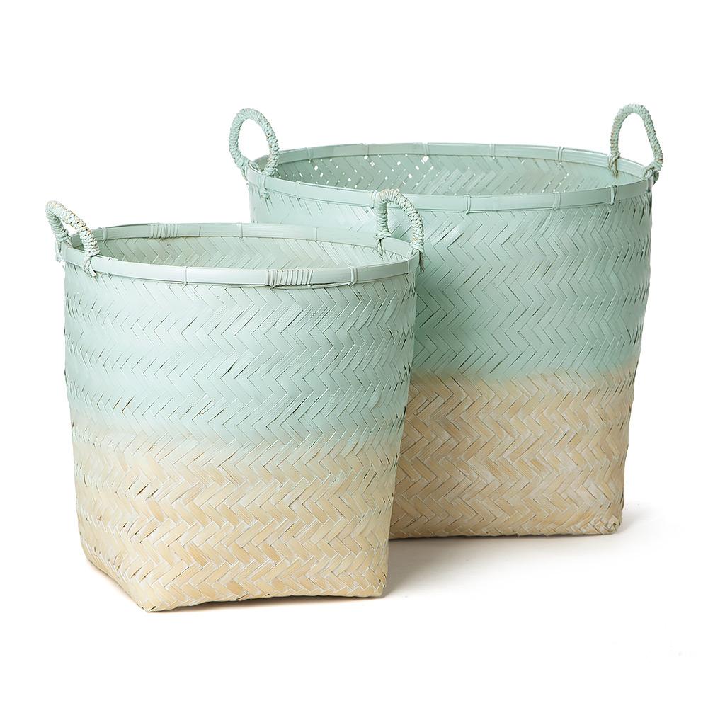 Madras Storage Baskets: Madras - Whitsunday Aqua Basket Set 2pce