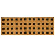 Madras - French Black Grid Doormat 40x120cm