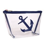 Lolo - Avery Clear Navy Anchor Cosmetics Case