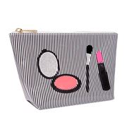 Lolo - Avery Black Stripe Compact Make-up Cosmetics Case